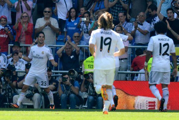Isco, el nuevo ídolo del Madrid, ponía el primer gol del partido.