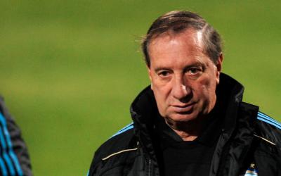 Carlos Bilardo, manejador de la Selección de Fútbol de Argentina en 2010