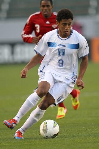 El delantero de la Selección Olímpica de Honduras Anthony Lozano, comien...