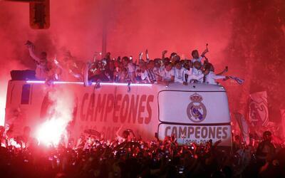 Real Madrid celebró por todo lo alto tras cinco años sin ganar la Liga e...