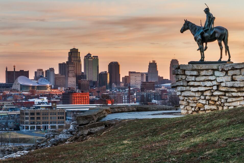 Kansas City, en Missouri, también está dentro de las ciudades grandes má...