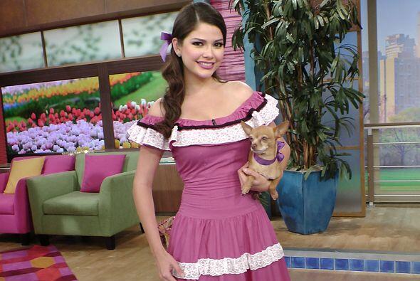 Con ese vestido rosa, Anita fue comparada con la polémica Barbie mexicana.