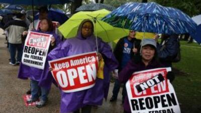 Una de las manifestaciones que se dieron mientras duró el cierre parcial...