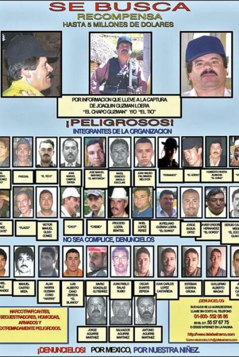 El cártel de Sinaloa es uno de los más fuertes en el país. Sus dominios...