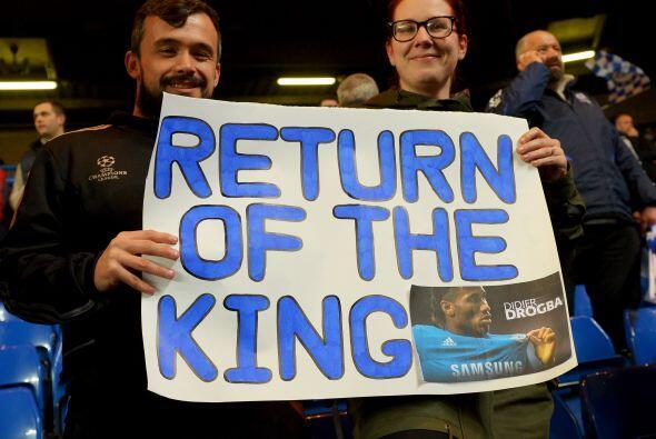 Pero Stamford Bridge tenía motivos para estar feliz, conla vuelta...