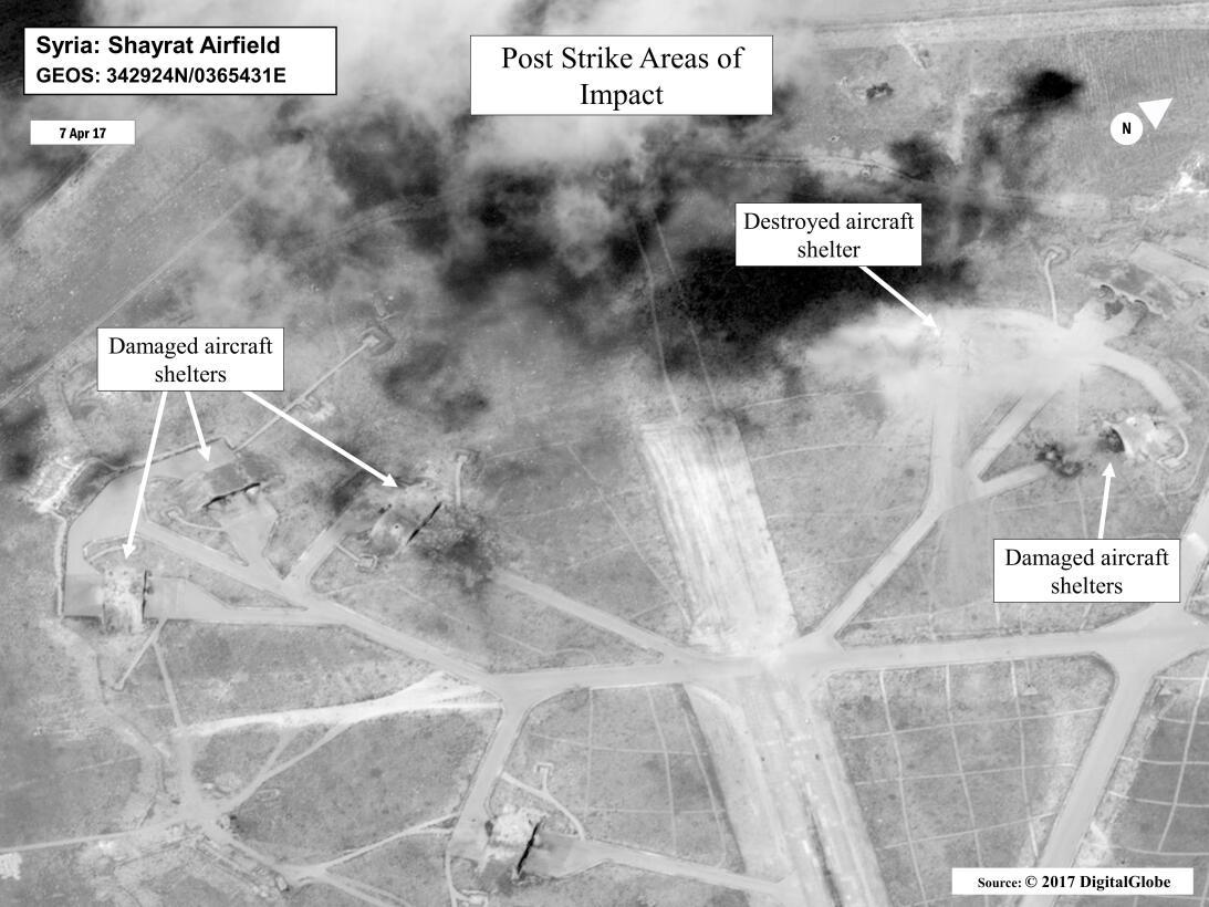 Resultado de imagen para Ataque de EEuu a base en siria