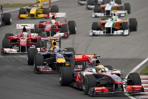 Hamilton salió muy confiado y demostró sus habilidades frente al volante.