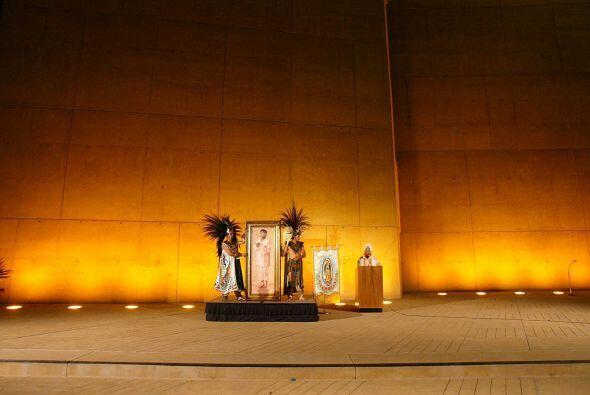 Altar en honor a San Diego erigido durante una celebración de la Virgen...