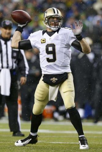 N°8 El #9 de los New Orleans Saints, el del QB Drew Brees (AP-NFL).