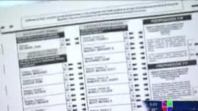 Cómo llenar la boleta electoral
