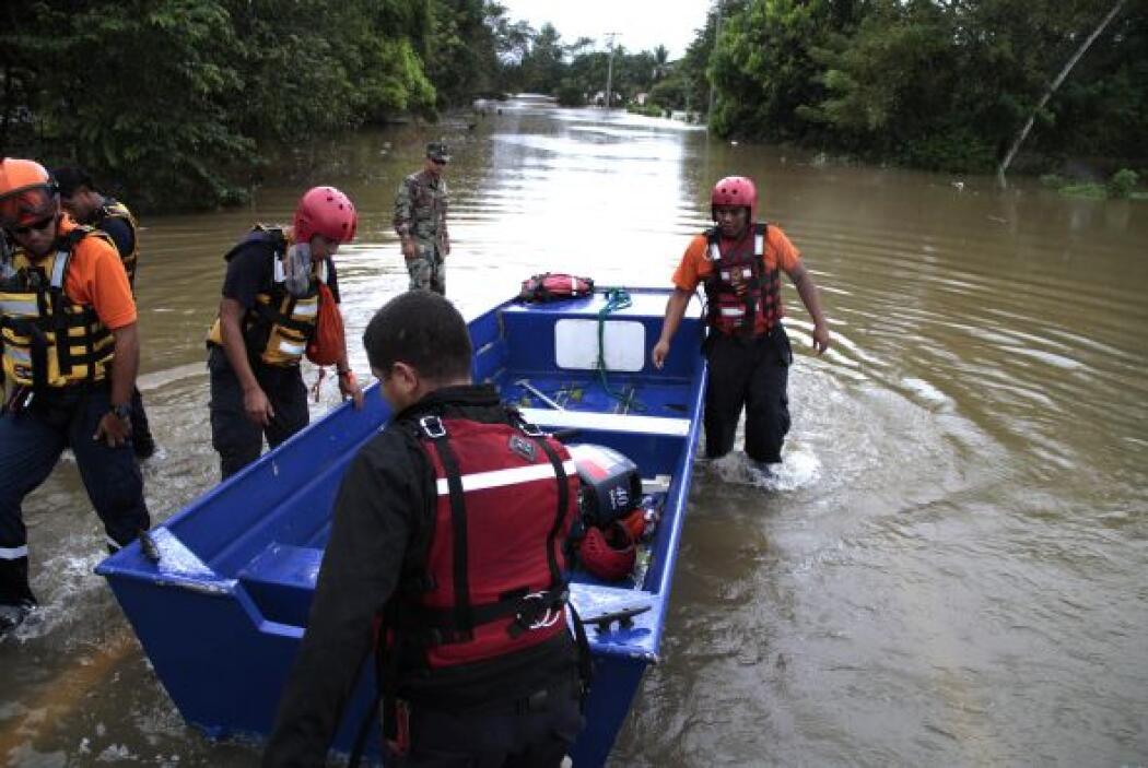 La situación en el sur de Panamá es aún más riesgosa por el desbordamien...