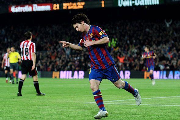 'La Pulga' lo consiguió y el Barcelona goleó 4-1 al Athletic.
