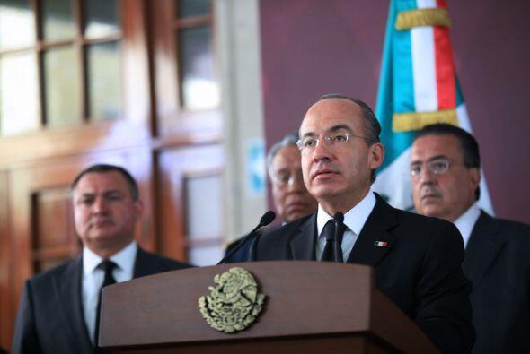 Ell 10 de septiembre, el Presidente mexicano Felipe Calderón Hinojosa an...