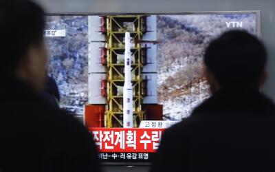 Ven por televisión el lanzamiento de un proyectil norcoreano
