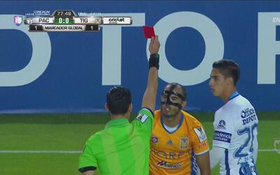 ¡Y 'Chucky' Lozano expulsó a Guido Pizarro para que Tigres se quede con 10!