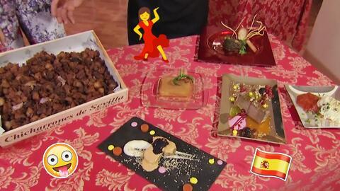 Maity Interiano probó platillos típicos sevillanos para celebrar la Sema...
