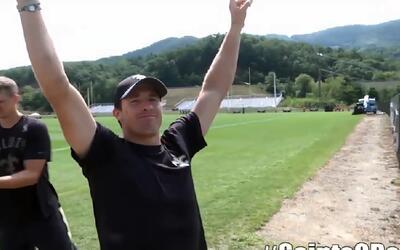 El reto de puntería que cumplió el quarterback Drew Brees
