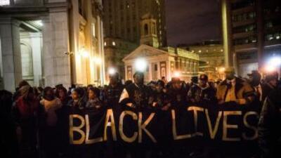 Continúan las protestas en Nueva York.
