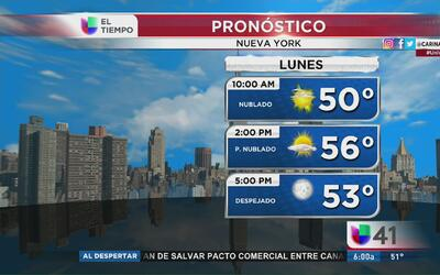 Nueva York tendrá un lunes parcialmente nublado