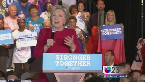 Hillary Clinton regresa a Florida para hablar con sus simpatizantes