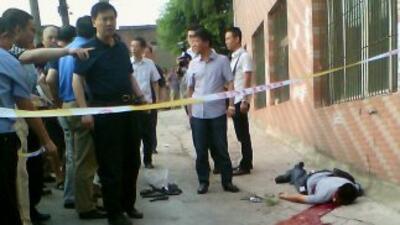 El hombre murió baleado en el distrito de Shapingba, una región montaños...