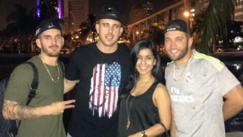 In this photo taken at 2:37 a.m. Sunday, Jose Fernandez poses at a bar s...