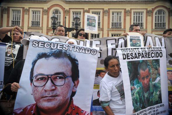 Provenientes de diversas regiones del país, los manifestantes exp...