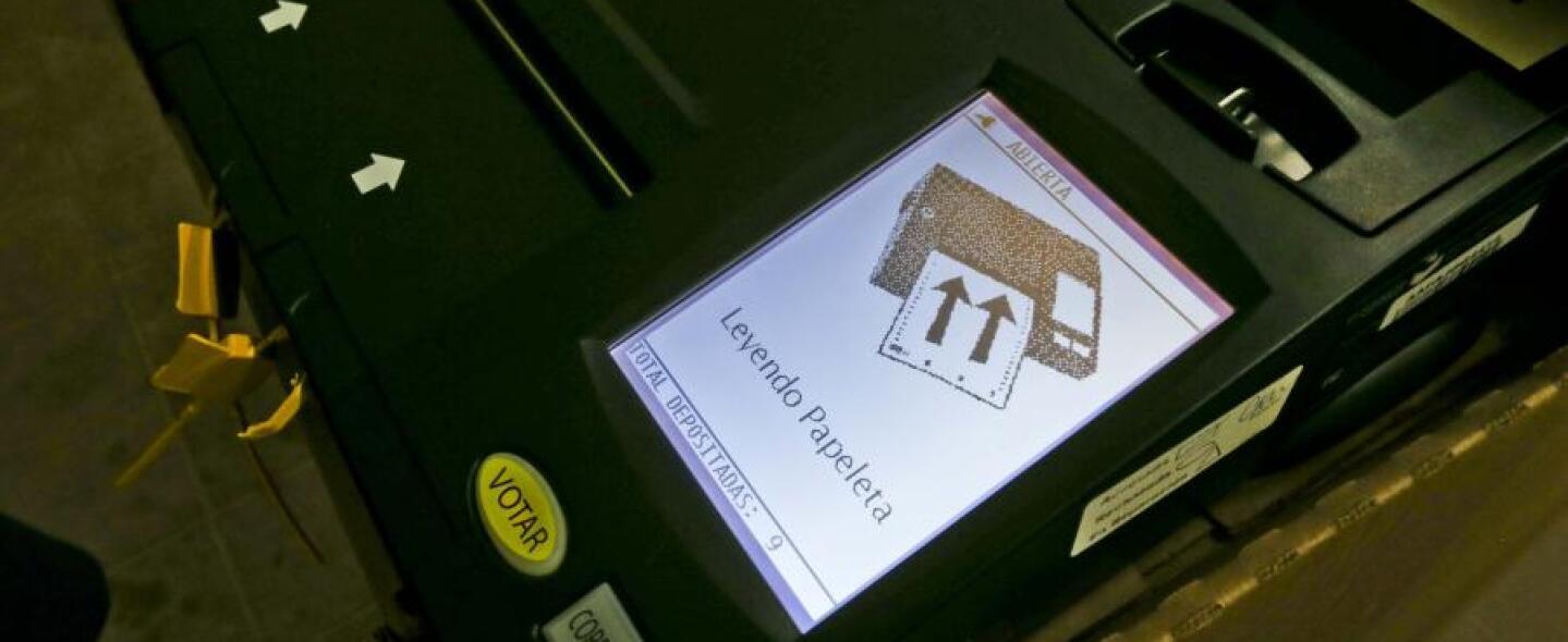 Maquina de escrutinio electrónico
