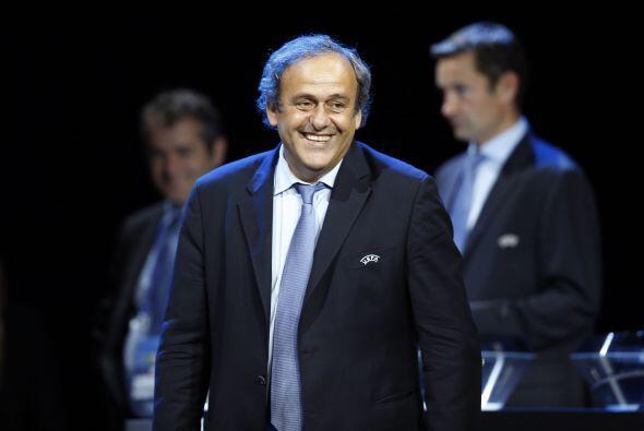 Michel Platini, presidente de la UEFA, aclaró antes de la gala qu...