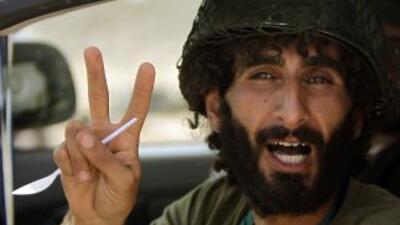 Los debeldes libios tienen controlado poco más del 90 por ciento del paí...