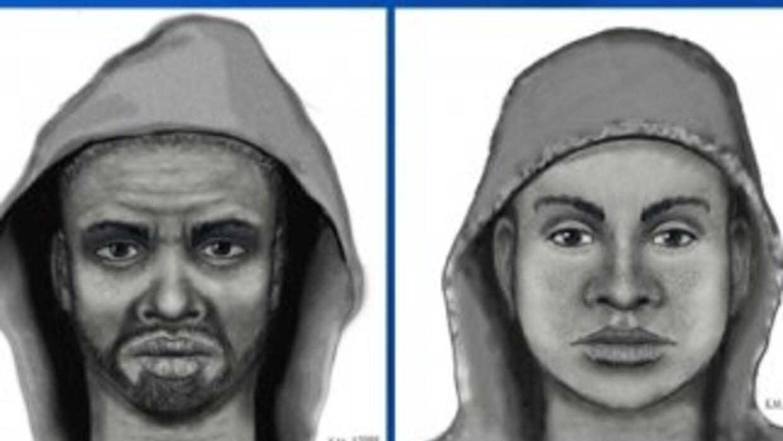 Estos dos hombres y un tercero son buscados por robo y asalto agravado....