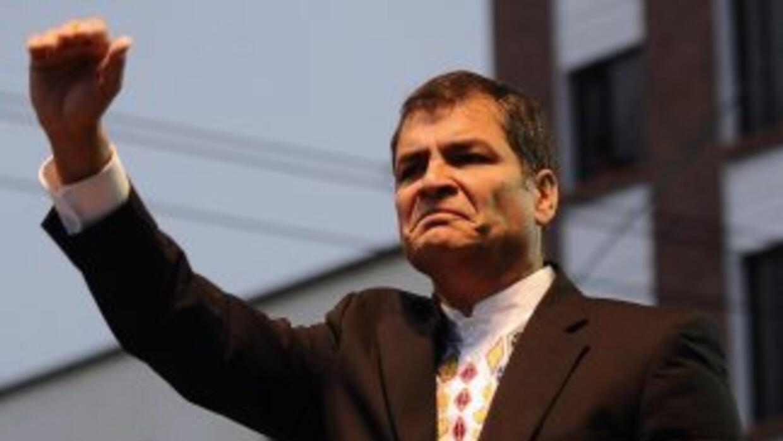 El presidente de Ecuador, Rafael Correa, quien ha tenido una relación te...
