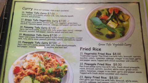 Menú del restaurante tailandés de Santa Mónica que...