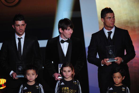 En el once figuraron astros como David Villa, Messi y Cristiano Ronaldo.