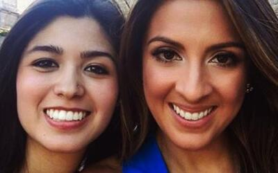 Maity Interiano acompañó a Larissa Martínez en su primer día en la Unive...