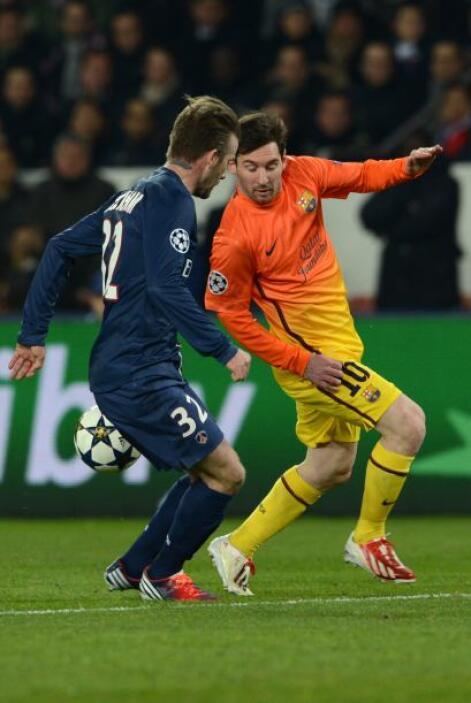 Por el otro lado, Messi destacaba en el ataque del Barcelona.