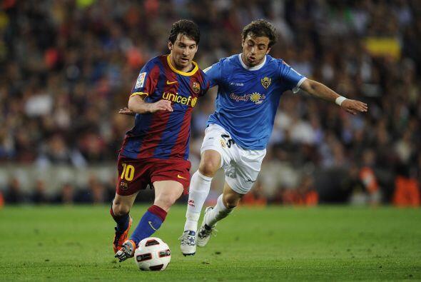 Barcelona intentaba de la mano de 'la pulga' pero la defensa del visitan...