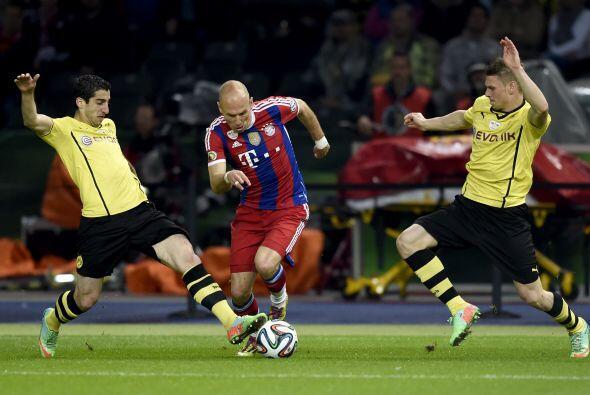 Arjen Robben disputó 44 partidos de la temporada del Bayern Munich (36 c...