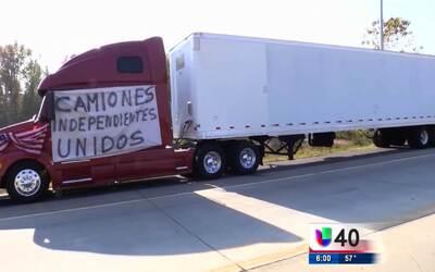 Inicia la huelga de camioneros en la I-85