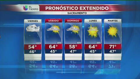 Lluvias intensas llegan a Sacramento