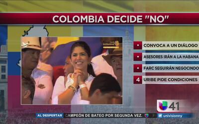 Santos convoca al dialogo tras rechazo del acuerdo de paz en las urnas
