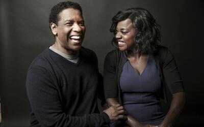 Denzel Washington y Viola Davis posan para un retrato en el hotel Four S...