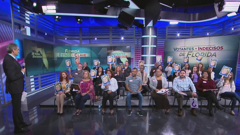 Panel de votantes en Univision dan como ganadora del debate a Hillary Cl...
