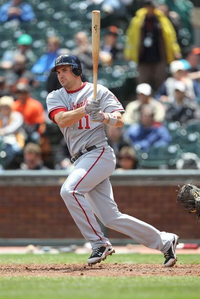El tercera base de los Nacionales de Washington D.C., Ryan Zimmerman, ga...