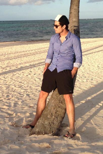 La playa del hotel Meliá Caribe Tropical estaba muy tranquila y D...