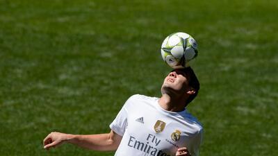 Mateo Kovacic durante su presentación como jugador del Real Madrid