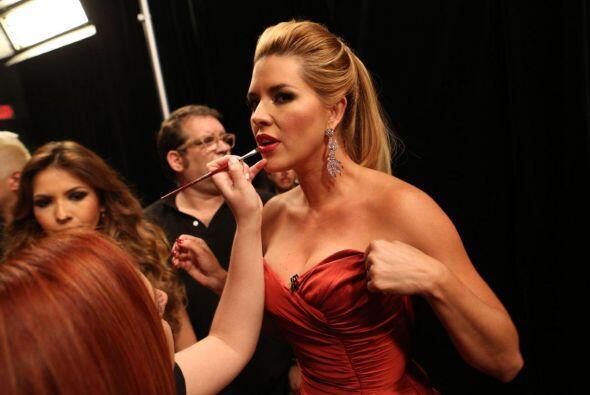 Y también a Alicia, cuyos labios fueron protagonistas de su 'look'.