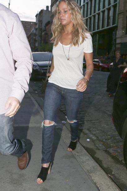 La actriz se paseó por Manhattan hace unos días.