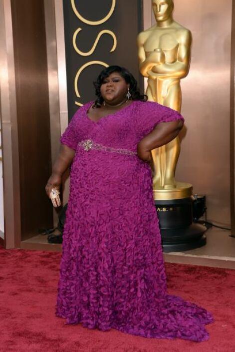 Gabourey Sidibe tampoco tuvo una muy buena elección con este vestido de...