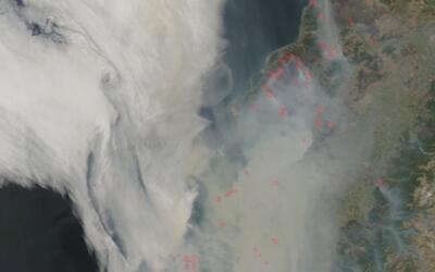 La NASA da a conocer las imágenes desde el espacio de los incendios fore...